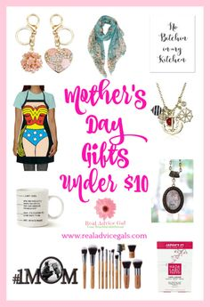 Cool Mother's day gifts under $10. Great gift ideas to surprise a mom on her special day. Best Mothers Day Gifts, Fathers Day, Best Gifts, Valentines Gifts For Him, Gifts Under 10, Love Mom, Holiday Fun, Holiday Ideas, Creative Gifts