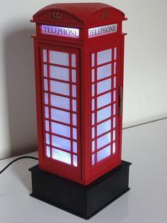Como  Fazer : Luminária Inglesa Cabine Telfônica c/Caixa de Leite  Recic...