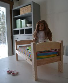 NEW FREE PLANS: Kid's Doll Bed Kits! Use this plan to create a kit from $2 in wood that your kids can build their own doll bed!