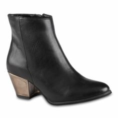 Metallic heel boot