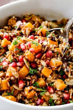 Wild Rice with Butternut Squash - Carlsbad Cravings Wild Rice Pilaf, Wild Rice Recipes, Cooking Wild Rice, Carlsbad Cravings, Vegetarian Recipes, Healthy Recipes, Rice Salad, Roasted Butternut Squash, Chicken Seasoning
