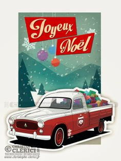Les illustrations de christophe: Joyeux Noël ! Peugeot 403 Pick Up