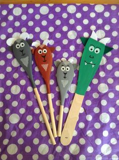 Story Spoons: The Three Billy Goats Gruff
