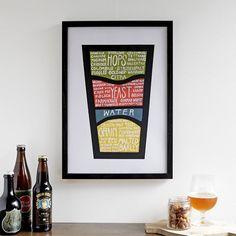 Esquema detallado de la cerveza Sé lo que bebes por drywell