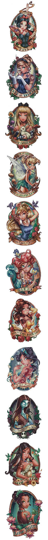 Disney Tattoo Designs by Telegrafixs
