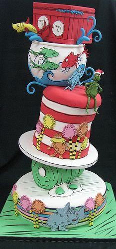 Seuss Cake by FancyThatCake, via Flickr
