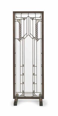 A LEADED GLASS WINDOW, FRANK LLOYD WRIGHT, CIRCA 1910