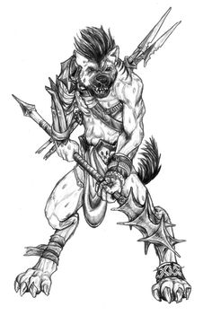 Gnoll, osirion Pathfinder RPG A monster drawing for David Wickham in the Paizo Boards Gnolls visual cultural diferences are minimal in golarion, it refl. Fantasy Dragon, Fantasy Warrior, Fantasy Art, Character Inspiration, Character Art, Cool Drawings, Dragon Drawings, The Elder Scrolls, Body Sketches