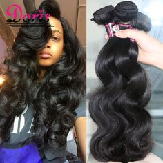 Cheap Hair Bundles 3Pc LOT Brazilian Body Wave Queen Hair Products Doris Brazilian Virgin Hair Body Wave Grace Hair Products