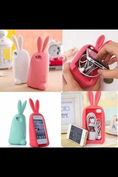Cheap Lovely Rabbit Storage Silicone Case For Iphone For Big Sale!It is a Lovely and useful iphone case. You will love this Lovely Rabbit Storage Silicone Case. Iphone Cases For Girls, Funny Iphone Cases, Cute Phone Cases, 4s Cases, Coque Iphone 6, Iphone 4s, Iphone Printer, Iphone Charger, Accessoires Iphone