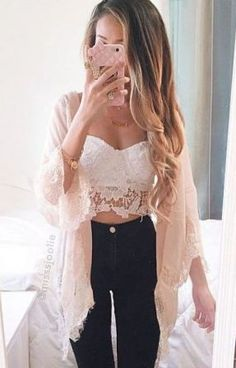 Summer outfits that get you noticed! Find just the right look for your next big event. Something to fit all types and color combinations. See all 101 outfits for summer in this article! Crop Top Outfits, Girly Outfits, Casual Outfits, Look Fashion, Fashion Beauty, Fashion Outfits, Womens Fashion, Swag Fashion, Fashion Killa