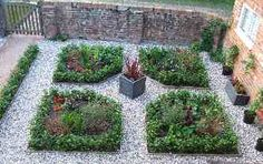Herb Garden Design: Some examples of herb garden design. A basic formal herb garden design useful for anyone (even a beginner!):      take a geometric shape (circle, square, triangle, etc),     divide it up with pathways into equal sections,     then plant each section. See examples here: http://www.edible-landscape-design.com/herb-garden-design.html