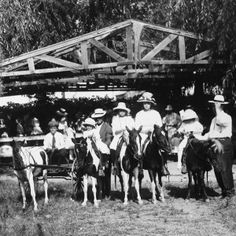 Kids get set for Shetland pony rides at Zapps Park, Fresno c. 1912.  (Original article has a gallery of larger size photos.)