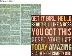 "The Reset Girl 12x12 Cardstock Paper ""24/Seven"""