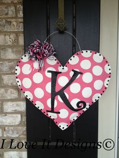 Pink Heart Burlap Door HangerImmediate Shipping by ILoveItDesigns Burlap Projects, Burlap Crafts, Craft Projects, Craft Ideas, Valentines Day Decorations, Valentine Ideas, Valentine Day Crafts, Burlap Wall Hangings, Burlap Door Hangers