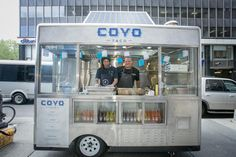 Solar-powered food trucks in New York. Pretty cool stuff. Clean energy is the future.