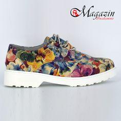 Pantofi Dama Piele Naturala - Prego - 157 Floral