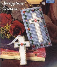 Springtime Crosses Plastic Canvas Pattern by needlecraftsupershop, $3.50