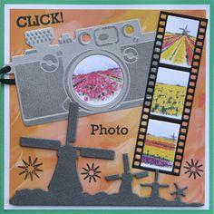 Karla-Krea: Tulpen op de foto Filmstrip, Holland, Marianne Design, Stampin Up Cards, Card Making, Layout, Frame, Handmade, Cards