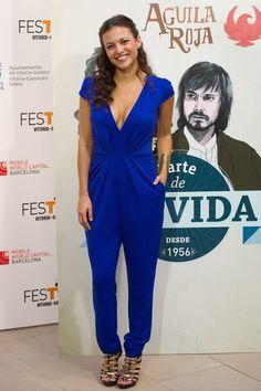 Elisa Mouliaa - FesTVal 2014 - Day 4 con brazalete de Daniel Espinosa Jewelry