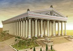 The Temple of Artemis (Greek: Ἀρτεμίσιον, or Artemision), also known less precisely as the Temple of Diana, was a Greek temple dedicated to the goddess Artemis and was one of the Seven Wonders of the Ancient World. It was located in Ephesus (near the modern town of Selçuk in present-day Turkey), and was completely rebuilt three times before its eventual destruction in 40. Only foundations and sculptural fragments of the latest of the temples at the site remain.