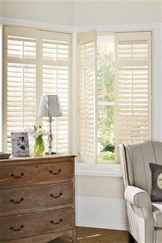 Venetian blinds don't have to be white and plastic! Available in timber, plantation style venetians are perfect for that summer feel
