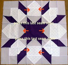 Swoon block.  Hip to be a Square's directions on pressing the seams.