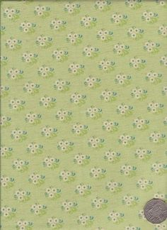 "Little Floral Green  ""Mosaic Bloom"" designed by Rosalie Dekker."