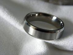 Titanium Ring Wedding Band Narrow Beveled Edges by titaniumknights, $45.00