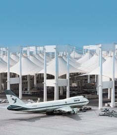 King Abdulaziz International Airport Hajj Terminal, Jeddah, Saudi Arabia - Fazlur Rahman Khan for Skidmore, Owings & Merrill (1981)
