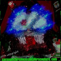 Check out this item in my Etsy shop https://www.etsy.com/listing/206263879/light-up-ugly-christmas-sweater-frankie