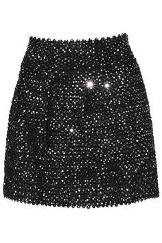 Black Sequined Skater Skirt 13.33