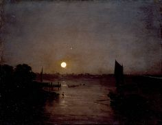 Joseph Mallord William Turner, 'Moonlight, a Study at Millbank' exhibited 1797