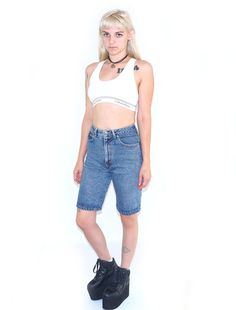 JIMMYZ Acid Wash 80s HighWaisted Shorts 80s Skater by ACTUALTEEN, $39.00