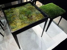 Secret Garden Table - made with dried moss - do it yourself.