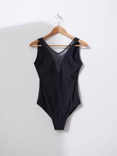Strój kąpielowy z siateczką, HOUSE, XX187-99X I Love House, Bodysuit, Swimsuits, Lingerie, Tops, Women, Fashion, Onesie, Moda