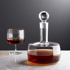 Free Shipping.  Shop Corbin Decanter.  With its square bowl, columnar neck and round bubble stopper, the Corbin whiskey decanter puts a modern edge to aerating fine wines or storing spirits.