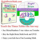 free podcasts on teaching right brained kids times tables