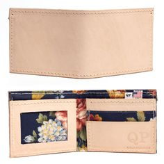 Men's Wallet - Tan Floral -- Awesome products selected by Anna Churchill