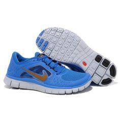 ee397ade7da3 ... free shipping billig rabatt 2012 dame nike free run 3 blå gull cheap  nike running shoes