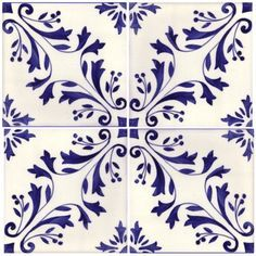Sintra Antique Handpainted, Portuguese, Tiles - A1-Portuguese tiles - 149-Madeira 4 tile
