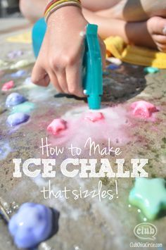 How to make ice chalk... that sizzles!  Get ready for the ultimate in cool summer fun for kids of all ages!  www.clubchicacircle.com