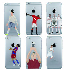 Football Case Pogba karim Benzema Cristiano Ronaldo Messi phone case for iphone 7 plus 6 6s 5s  se Hard clear back cover coque *** Posetite ssylku izobrazheniya boleye podrobnuyu informatsiyu.