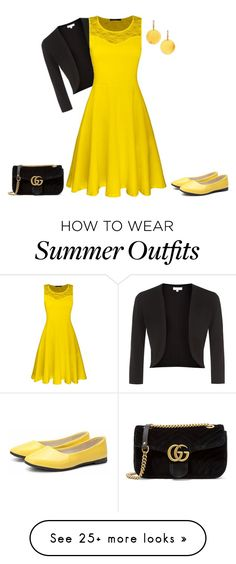 """""""outfit 104"""" by natycombo on Polyvore featuring Hobbs, Gucci and Gurhan"""