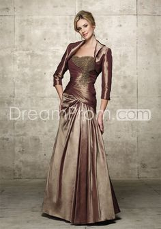 Cheap Cheap Fabulous Beaded Draped Floor-Length Sweetheart Mother of the Bride Dress.