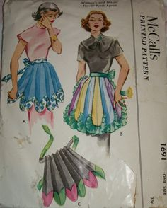 Vintage apron patterns.