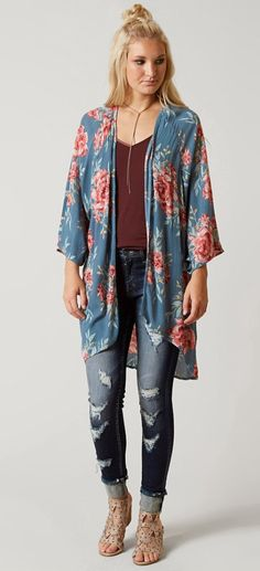 Floral Kimono : Billabong Desert Dreams Cardigan | Buckle