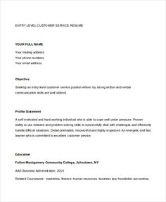Entry Level Customer Service Resume Alluring Professional Resume Writers And Editors  Pinterest