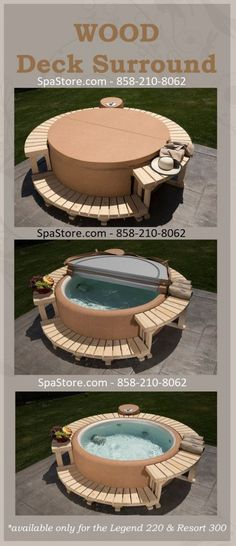 Softub Wood Deck Surround for Softub Models 220 Cool Deck, Diy Deck, Pool Bar, Piscina Diy, Laying Decking, Stock Tank Pool, Deck Construction, Deck Plans, Home Landscaping