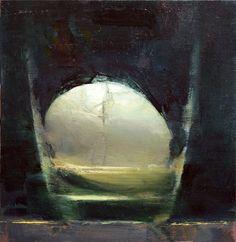 Crack - 6.5x6.5, oil on panel, Scott Conary